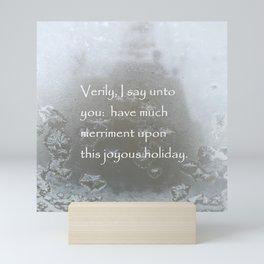 Holiday Card with sardonic humor Mini Art Print