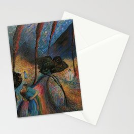 Die Blaue Reiterin - The Star-crossed Lovers landscape painting by Marianne Von Werefkin Stationery Cards