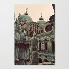 Venice: Statue Canvas Print