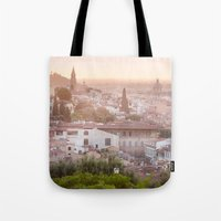 florence Tote Bags featuring Florence by ocophoto
