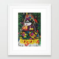 potato Framed Art Prints featuring Frida Potato by cristenhoyt