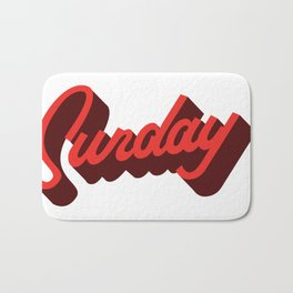 Sunday Typography Prints Bath Mat