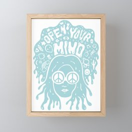 Open Your Mind in Mint Framed Mini Art Print