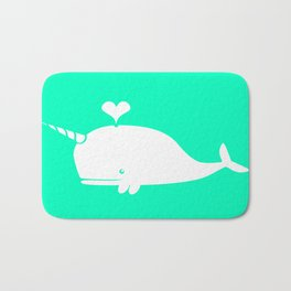 For the Love of Narwhals Bath Mat