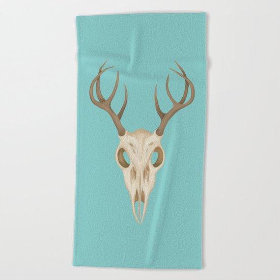 Deer Skull Beach Towel