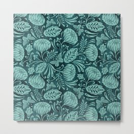 Arabella - Teal Metal Print