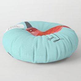 Birds With Attitude: Yasss Queen Floor Pillow