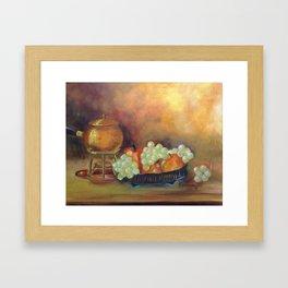 Compoição com frutas II (Composition with fruits II) Framed Art Print