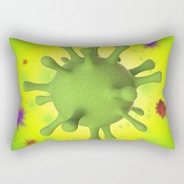 3D Virus - Multicolor Rectangular Pillow