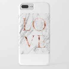 Rose gold marble LOVE Slim Case iPhone 7 Plus