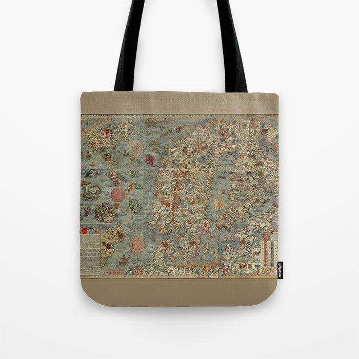 Carta Marina et Description 1539 Tote Bag