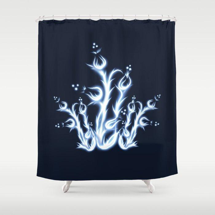 Frozen Thistle Shower Curtain