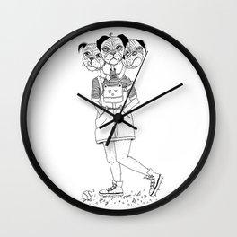 Puggle Trouble Wall Clock