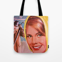 Lady in Yellow Tote Bag