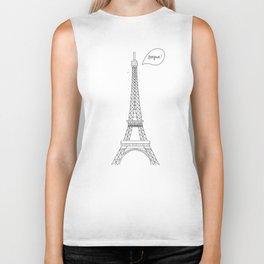 Bonjour Paris! Biker Tank