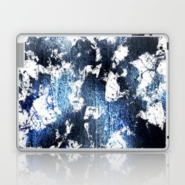 Blue sapphire and opal marbled abstract Laptop & iPad Skin