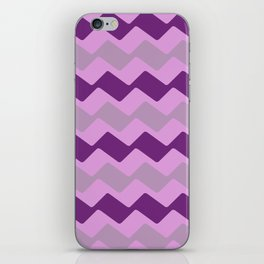 Purple Zig Zag Pattern iPhone Skin