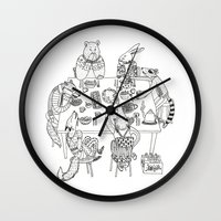 community Wall Clocks featuring Community  by Alexa Roberts