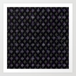 Endless Knot pattern - Silver and Amethyst Art Print