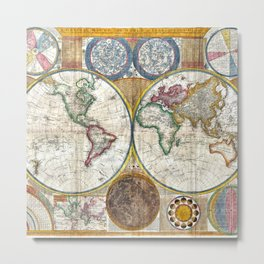 Old World Map print from 1794 Metal Print