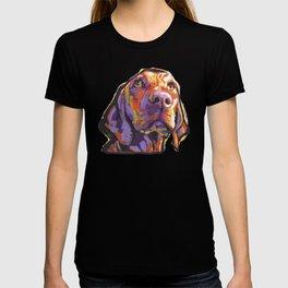 Vizsla Dog Portrait bright colorful fun Pop Art by LEA T-shirt