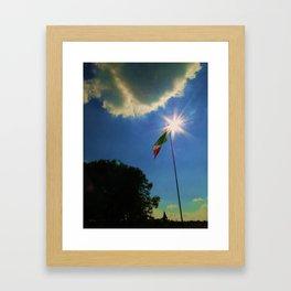Italian Flag Framed Art Print