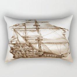 Vintage Drawing Rectangular Pillow