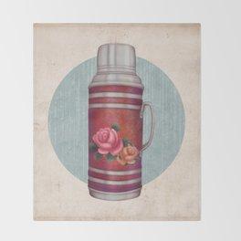 Retro Warm Water Jar Throw Blanket