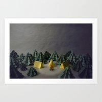 camp Art Prints featuring camp by Chelsea Gass