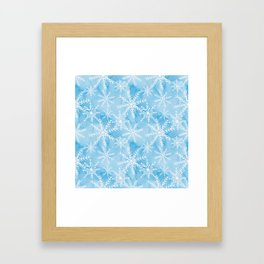 Blue Snowflakes #2 Framed Art Print