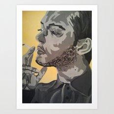 A Casual smoke  Art Print