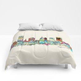 Oklahoma City Oklahoma skyline Comforters