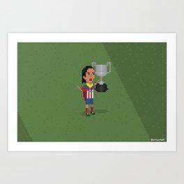 Atlético de Madrid wins Copa del Rey  Art Print