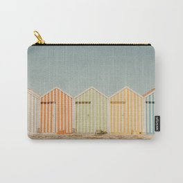 Summer Beach Huts Carry-All Pouch