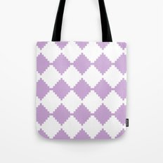 Abstract geometric pattern - purple and white. Tote Bag