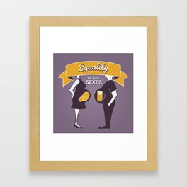 Equality of the sexes Framed Art Print