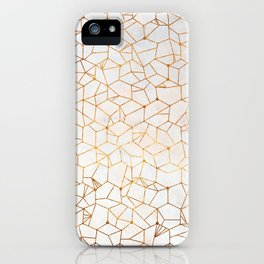 Organic Geometry - Copper and Mother of Pearl iPhone Case