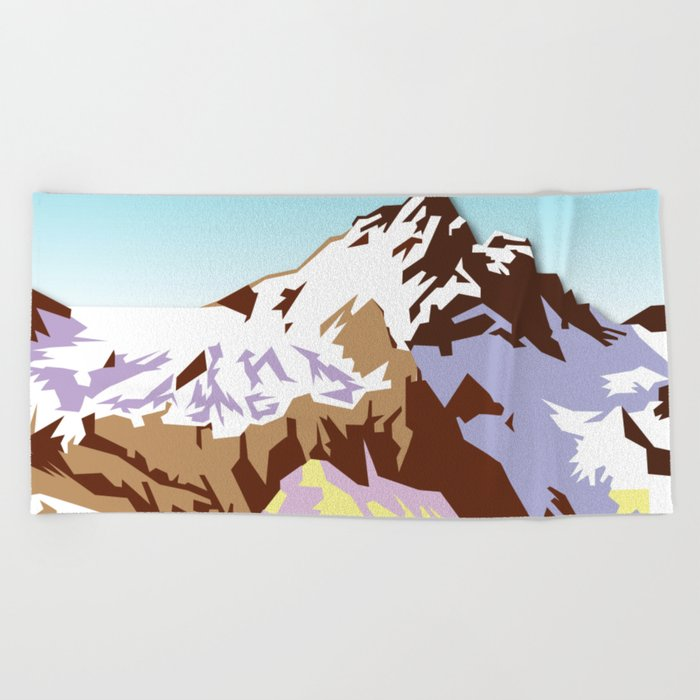 Night Mountains No. 49 Beach Towel