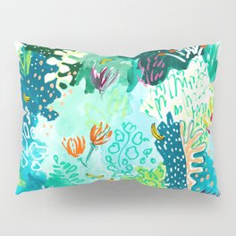 Twice Last Wednesday: Abstract Jungle Botanical Painting Pillow Sham