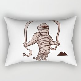mummy jumping rope Rectangular Pillow