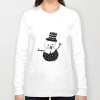snowman Long Sleeve T-shirts featuring Snowman by Teaspoon Of Me