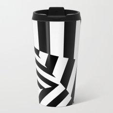 RADAR/ASDIC Black and White Graphic Dazzle Camouflage Metal Travel Mug
