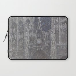 The Cathedral in Rouen. The portal, Grey Weather Laptop Sleeve