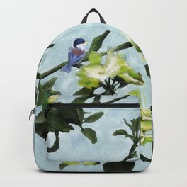Chickadee in Apple Blossoms Backpack