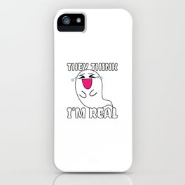 Cute Laughing Ghost Funny Halloween Gift Idea iPhone Case