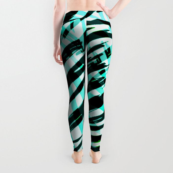 cyan confusion Leggings