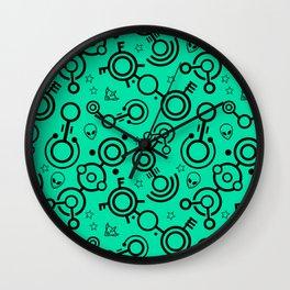 Crop Circles (Green) Wall Clock