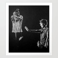 larry Art Prints featuring Larry by Drawpassionn