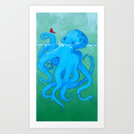 Octo Love Against the Odds Art Print