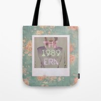1989 Tote Bags featuring The 1989 Era by Lucia C